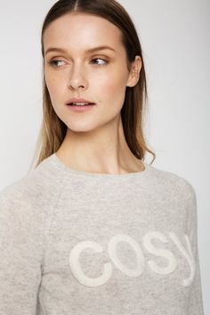 """One of our biggest sellers, """"The Cosy"""" cashmere sweater is the perfect off-duty sweater. This neat fit sweater looks great with just about anything. Off Duty, Cashmere Sweaters, Cosy, Looks Great, V Neck, Summer, Model, How To Wear, Clothes"""
