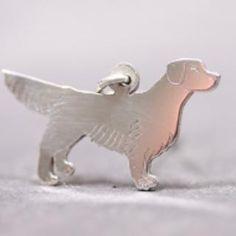 Golden Retriever silver PENDANT 2D etched
