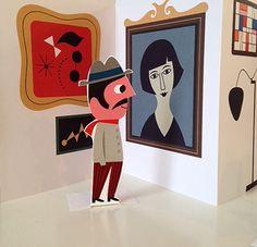 Ingela Peterson, Illustration - work for Modern art museum in Stockholm. Museum Of Modern Art, Art Museum, Paper Pop, Origami Paper Art, Paper Illustration, Paper Artwork, Kirigami, Art Store, Paper Design