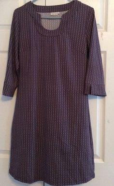Ellie Kai Dress, XL, Blue, Brown Print, 90% Nylon, 10% Spandex, NWOT #Kai #Casual #Casual