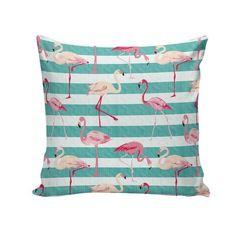 Capa para almofada Flamingos 45x45