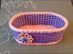(1) #11 Мастер-класс от А до Я Корзинка из газет Весеннее настроение DIY Newspaper Basket Weaving - YouTube