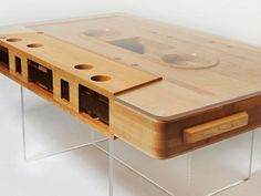 Cassette coffee table, this is adorable