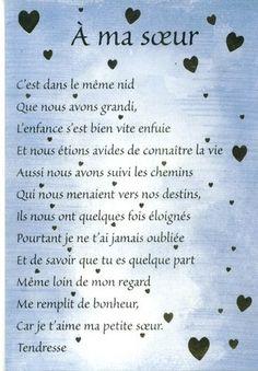 soeurs poems | Poeme Anniversaire Soeur
