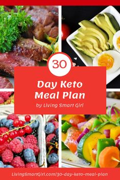 30 Day Keto Meal Plan for Weight Loss - Living Smart Girl Low Fat Diet Plan, Keto Diet Plan, Avocado Recipes, Paleo Recipes, Best Keto Meals, Easy Keto Meal Plan, Ketosis Diet, Ketogenic Diet, Keto Supplements