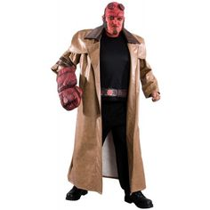 Rubie's Costume Co Rubie's Co Hellboy Ii: The Golden Army: Adult Plus Size Hellboy Costume, Brown, Plus Scary Costumes, Halloween Costumes, Hellboy Costume, Golden Army, Plus Size Halloween, Hollywood Party, Halloween Accessories, Playing Dress Up, Canada Goose Jackets
