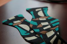 Ankara Bowtie and Matching Pocket Square by NoirMarket on Etsy