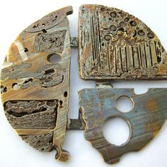 Colin Duncan - brooch colored mixed metal