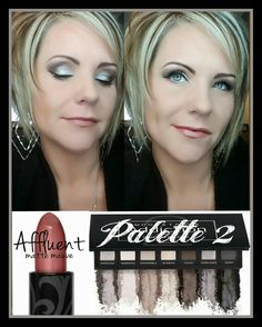 Younique palette 2 with Affluent Lipstick
