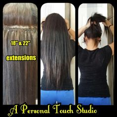 I love doing hair extensions