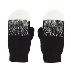 Donna Wilson Mountaine Peak Mittens - Black white - handshoenen The SHOP Herentals