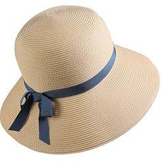 Sombreros panamá Sombrero Cloché Mujer Chica Señoras Playa Verano Paja  Sombrero para el sol a98b0418035