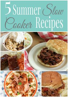 5 Summer Slow Cooker Recipes - penniesintopearls.com - Tasty summer slow cooker recipes to save your time, money, and the heat of cooking over the stove in the summer. Get your recipes now!