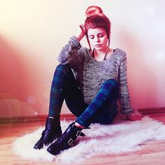 Shop this look on Kaleidoscope (sweater, pants, boots) http://kalei.do/XJ2DhUVCmRWXSVaW