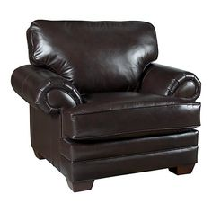 HGTV HOME Custom Upholstery Large Chair - Leather #bassettfurniture #accentchair