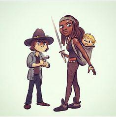 The Walking Dead / Carl / Michonne/  Judith
