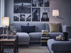 Sala com vista para o estilo. #molduras #quadros #decoração #IKEAPortugal