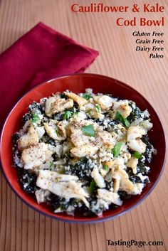 Cauliflower Kale Cod