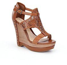 Gianni Bini Rissa Laser-Cut Wedge Sandals  #affiliate