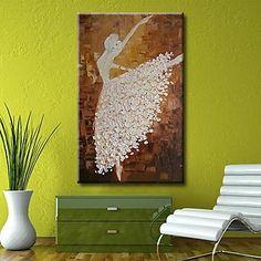 handgeschilderde danser modern abstract olieverfschilderij met gestrekte frame klaar om op te hangen – EUR € 79.99