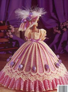 Image detail for -... of Richmond Gown for Barbie Fashion Dolls Crochet New Pattern | eBay