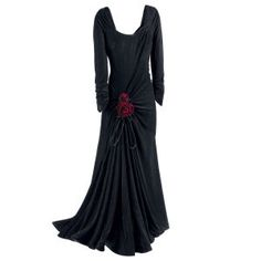 The Pyramid Collection - Gothic Rose Velvet Gown (beautiful style for a cool night out) ~:^)>