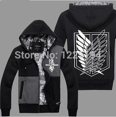 Attack On Titan Scout Regiment Levi Cosplay Costume Autum Winter Hoodie Fashion Hoodies Sweatshirts Coat Anime #Affiliate