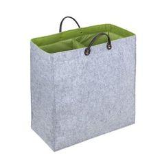 Wenko 3440204100 Wäschesammler Duo Filz - Wäschetonne, Aufbewahrungsbox, 51 x 54 x 24 cm, 66 Liter, grau-grün: Amazon.de: Küche & Haushalt