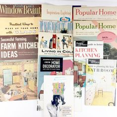 Vintage Home Decor Decorating Booklets MCM Lot of 12