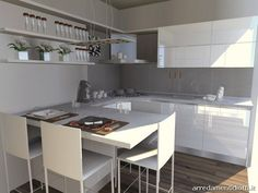 cucina con penisola e cappa angolare sfera - diotti a&f ... - Cucina Bianca Con Isola