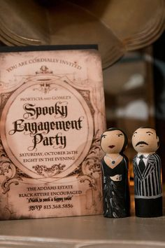 Pin for Later: You'll Be Creepily Captivated by This Addams Family Engagement Party