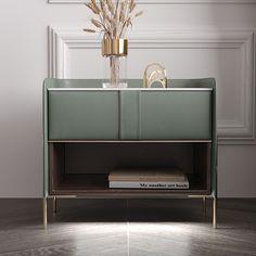 Black Nightstand, Wood Nightstand, Bed Furniture, Custom Furniture, Furniture Design, Orange Gris, Bedside Table Design, Bedside Tables, Bedrooms