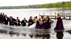 Wedding party falls into a lake after dock collapses http://www.ctvnews.ca/video?clipId=374900&playlistId=1.1850577&binId=1.810401&playlistPageNum=1