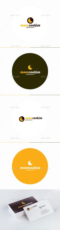 Moon Cookies Logo: Food Logo Design Template by shaoleen. Bakery Logo Design, Food Logo Design, Best Logo Design, Logo Food, Logo Design Template, Logo Templates, Vector Design, Graphic Design, Pastry Logo