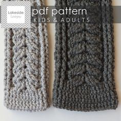 This over-sized unisex crochet scarf pattern is sure to keep everyone in your family cozy this Winter. ** This is a listing for an instant download