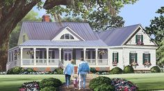 Home Plan HOMEPW77593 - 2010 Square Foot, 3 Bedroom 2 Bathroom + Low Country  Home with 2 Garage Bays | Homeplans.com