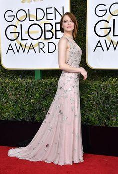 Emma Stone, 2017 Golden Globes.