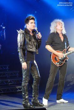 Brian May & Adam Lambert, London show, 12th July 2012 | Source: @WendyAndries @AdamLambertBE