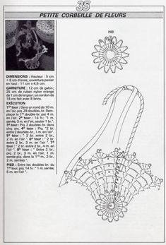 crochet - miniatures et dorures - 闽女爱越 - Picasa Webalbumok Crochet Bowl, Filet Crochet, Cute Crochet, Crochet Motif, Crochet Crafts, Crochet Doilies, Crochet Projects, Crochet Storage, Pineapple Crochet