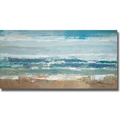 Add a fresh, natural feeling to any room with this reproduction contemporary canvas art print of Peter Colbert's 'Pastel Waves.' The large, horizontal canvas features a lively ocean scene and gentle colors that work in almost any decor scheme.