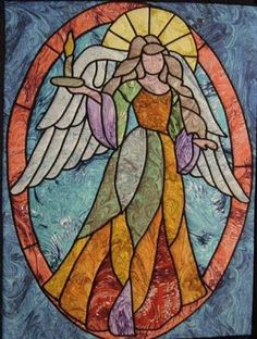 "Angel of Light, approx, 28 x 35"", by Ravenwood Designs #Vitrales"