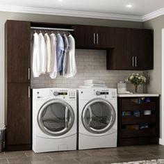Horizon 105 in. W Mocha (Brown) Laundry Cabinet Kit