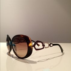 """Emilio Pucci Sunglasses Pucci sunglasses. Havana Brown  Ornate brown enamel arms. EP624S. Frame height 2.5 width 6"""".  Made in Italy. Excellent condition. Scratch free. Case and cloth included Emilio Pucci Accessories Sunglasses"""