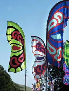 These colourful festival flags are so pretty and stand out