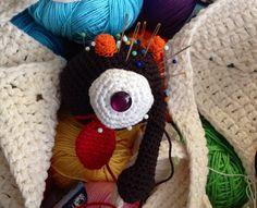 "Amigurumi crochet ""spare parts"" monster pin cushion"