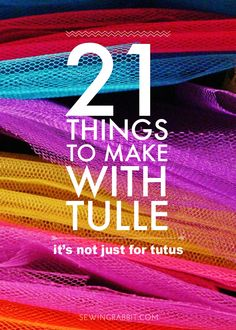 21 things to make with tulle (besides tutus) tulle projects, tulle crafts, Tulle Projects, Tulle Crafts, Fabric Crafts, Sewing Crafts, Sewing Projects, Fleece Crafts, Upcycled Crafts, Ribbon Crafts, Diy Projects