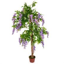 Kunststof bloemenboom Kiruna paars 150 cm
