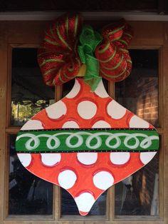 Door hanger Christmas Ornament Holiday by SerendipityDoorFun, $40.00