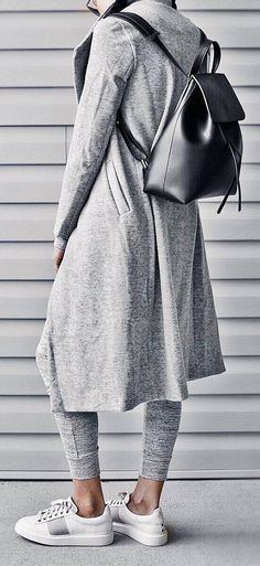 grey outfit idea