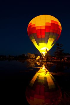 ride in a hot air baloon
